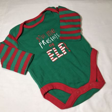 Christmas Theme Body Suit 3-6 Month